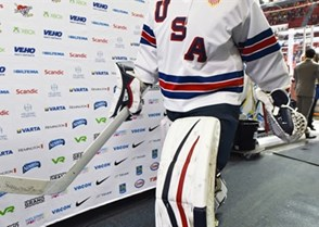 HELSINKI, FINLAND - DECEMBER 26: USA's Brandon Halverson #36 warms up before taking on Team Canada during preliminary round action at the 2016 IIHF World Junior Championship. (Photo by Matt Zambonin/HHOF-IIHF Images)