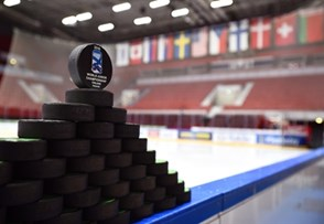 HELSINKI, FINLAND - DECEMBER 29: Official tournament pucks during preliminary round action at the 2016 IIHF World Junior Championship. (Photo by Matt Zambonin/HHOF-IIHF Images)