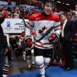 HELSINKI, FINLAND - DECEMBER 31: Canada's Roland McKeown #20 takes to the ice for warmup during preliminary round action at the 2016 IIHF World Junior Championship. (Photo by Matt Zambonin/HHOF-IIHF Images)