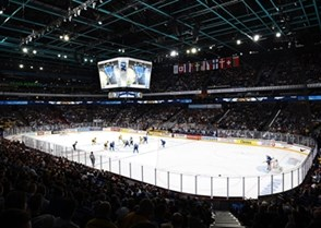 HELSINKI, FINLAND - JANUARY 4: Opening face-off at Hartwall Arena as Team Sweden takes on Team Finland during semifinal round action at the 2016 IIHF World Junior Championship. (Photo by Matt Zambonin/HHOF-IIHF Images)