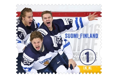 Lions on stamp